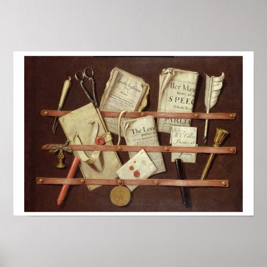 Trompe L'Oeil Composition Poster