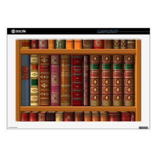 "Trompe l'oeil ""French library"" Decal For 17"" Laptop"