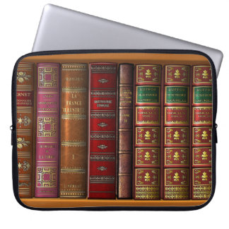 """Trompe l'oeil """"French library"""". Laptop Sleeve"""