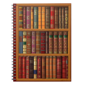 "Trompe l'oeil ""French library"". Spiral Notebooks"