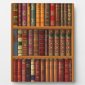 """Trompe l'oeil """"French library"""" Plaque"""