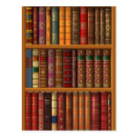 """Trompe l'oeil """"French library"""". Post Cards"""