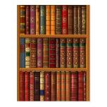 "Trompe l'oeil ""French library"". Postcard"