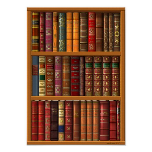 """Trompe l'oeil """"French library"""". Posters"""