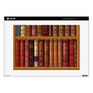 "Trompe l'oeil ""French library"". Skin For 15"" Laptop"
