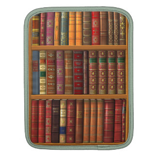 """Trompe l'oeil """"French library"""". Sleeve For iPads"""