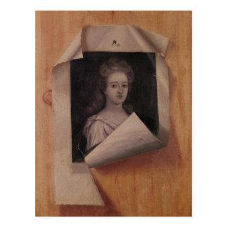 Trompe l'Oeil Portrait of a Lady Postcard