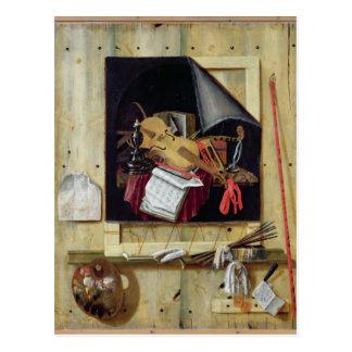 Trompe l'Oeil Still Life, 1665 Postcard