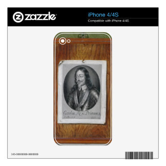 Trompe L'Oeil Still Life of a Print of Charles I ( Decal For The iPhone 4S