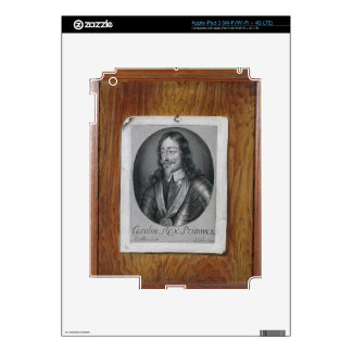 Trompe L'Oeil Still Life of a Print of Charles I ( Skins For iPad 3