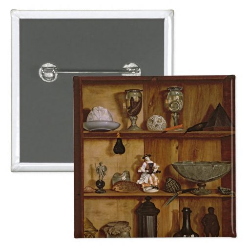 Trompe l'Oeil with a Statuette of Hercules Pinback Buttons