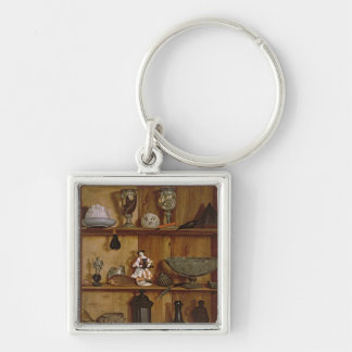 Trompe l'Oeil with a Statuette of Hercules Keychain