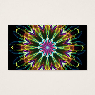 Trompet Flower kaleidoscope Business Card