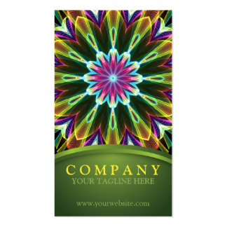 Trompet Flower mandala Business Card Templates