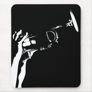 Trompeta abstracta Mousepad del jazz