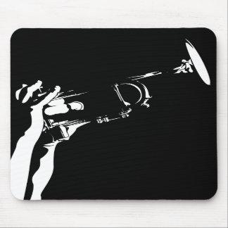 Trompeta abstracta Mousepad del jazz Alfombrillas De Raton