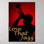 "Trompeta ""amor poster de ese jazz"""