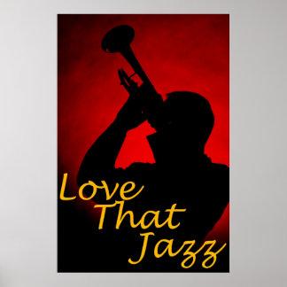 "Trompeta ""amor poster de ese jazz"" póster"