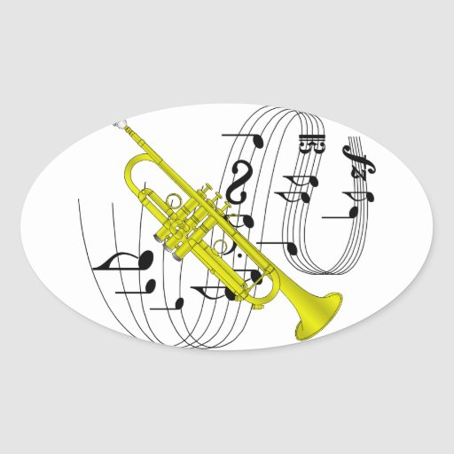Trompeta Calcomanía Óval