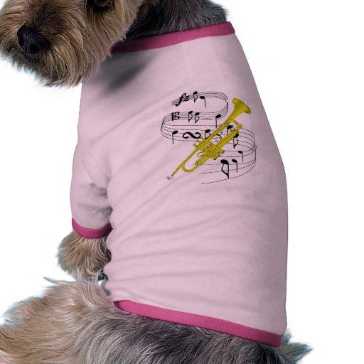 Trompeta Camiseta Con Mangas Para Perro
