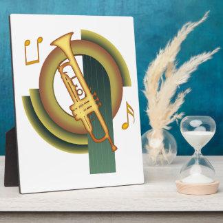 Trompeta de Deco Placa De Plastico