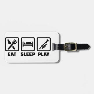 Trompeta de Eat Sleep Play Etiquetas Para Maletas