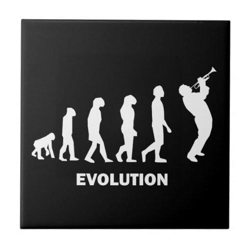 trompeta de la evolución teja