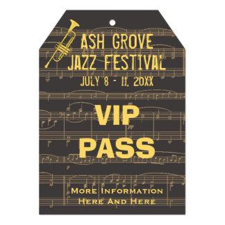 Trompeta de oro del paso del festival de música invitación 12,7 x 17,8 cm