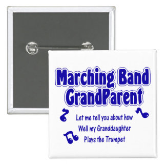 Trompeta del abuelo de la banda pin cuadrado