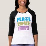 Trompeta del amor de la paz camisetas
