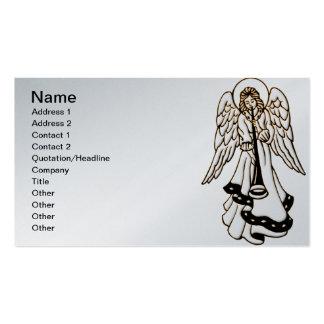 Trompeta del latón del ángel del navidad tarjetas de visita