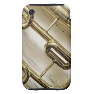 Trompeta detallada carcasa though para iPhone 3