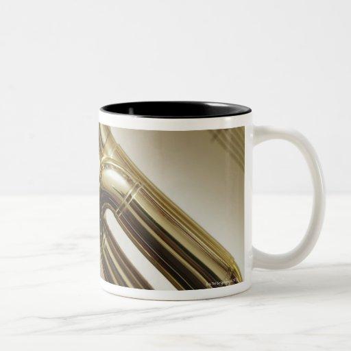Trompeta detallada tazas de café