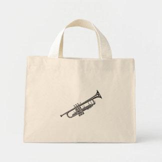 """Trompeta """"dibujo """" bolsa de tela pequeña"""