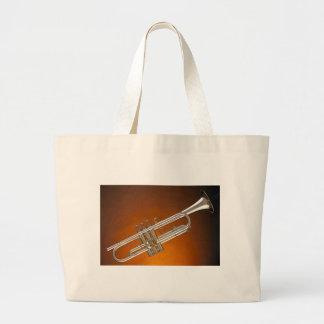 Trompeta en el oro bolsas de mano
