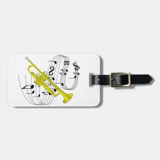 Trompeta Etiqueta De Maleta