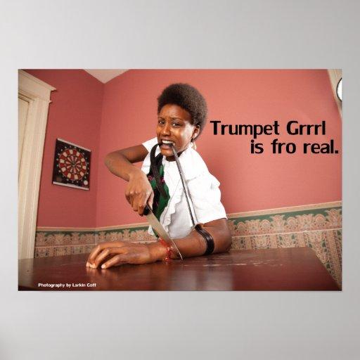 Trompeta Grrrl 19X13 para el poster real