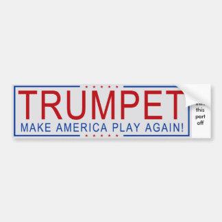 ¡TROMPETA - haga que América juega otra vez! Pegatina Para Auto