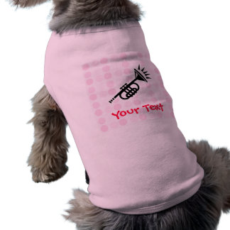 Trompeta linda camisetas de mascota