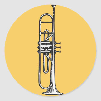 Trompeta Pegatina Redonda
