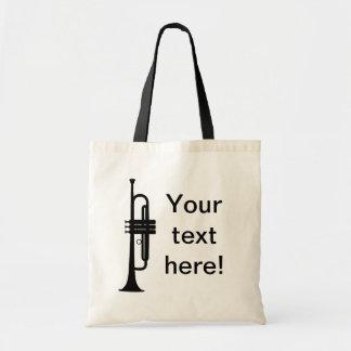 Trompeta personalizada bolsas de mano