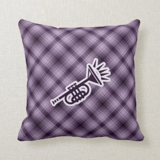 Trompeta púrpura almohada