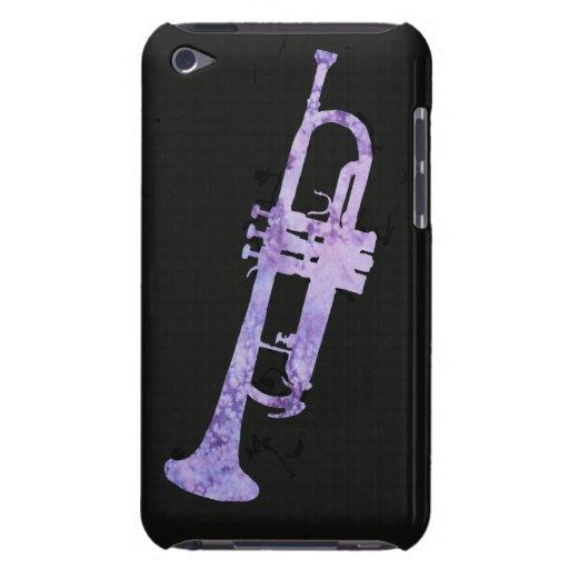 Trompeta púrpura de la acuarela iPod Case-Mate fundas