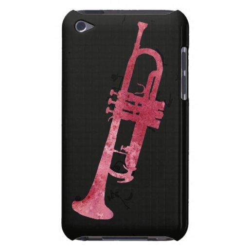 Trompeta roja de la acuarela Case-Mate iPod touch cárcasa