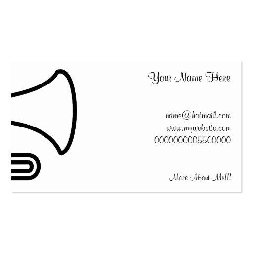Trompeta, su nombre aquí, tarjetas de visita