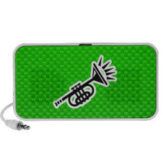 Trompeta verde PC altavoces