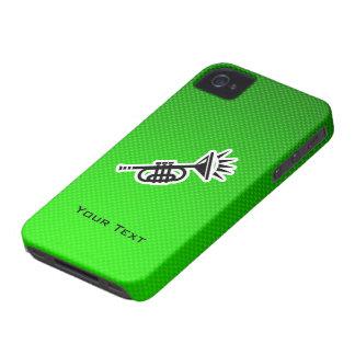 Trompeta verde Case-Mate iPhone 4 carcasa