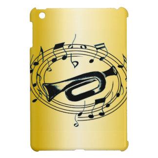 Trompeta y notas musicales