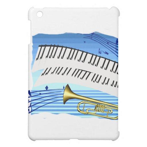 Trompeta y teclado, música azul del gráfico del te