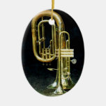Trompeta y tuba adornos